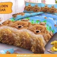 Sprei D'luxe Kintakun - Golden Bear - 120 x 200