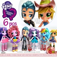 Jual My Little Pony Equestria Girls 6 Figure-metalic-topper cake-toys-VB284 Murah