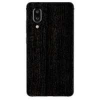 9Skin - Premium Skin Protector for Sharp Aquos S2 3M Black Burned Wood