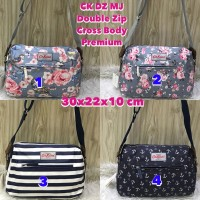 Cath Kidston DZ - Double Zip Cross Body Bag Grade Ori