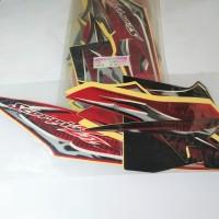 Stiker Bodi & Lis Body & Striping Scorpio Z 2013 Hitam Merah