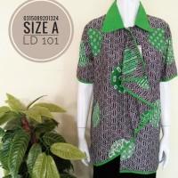 INBS207 Kemeja Batik Remaja Katun Atasan Baju Wanita Murah Blouse