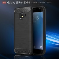 FIBER LINE Samsung J2 Pro 2018 Spigen Soft Case Casing Hp Cover Carbon