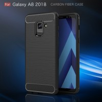 FIBER LINE Samsung A8 - A8 Plus 2018 soft case casing tpu cover carbon
