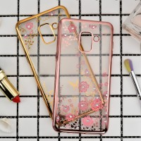 TPU FLOWER Samsung A8 - A8 Plus 2018 soft case casing cover ultra thin