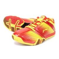 hero no 1 ltd red yellow/sepatu badminton lining original hero no 1