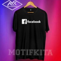 Baju Kaos FACEBOOK FB Simple Keren Pria Wanita Motifkita