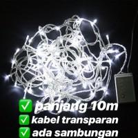 lampu led natal dekorasi , led twinkle light , led string PUTIH