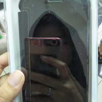 CASING HP Samsung J7+ Plus FLIP MIRROR AUTO LOCK