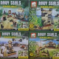 LEGO BRICK ELEPHAT JX-50022 TENTARA NAUY SEALS