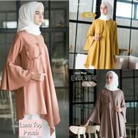 Baju kancing depan / Atasan wanita / Pakaian muslim wanita : Lana top
