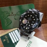 Jam Tangan Pria Rolex Deepsea Fullblack Automatic Rantai Grade Premium