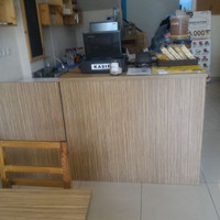 meja bar finishing hpl ex resto/ cafe