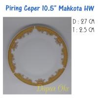 "Piring Ceper 10.5"" Mahkota (6 pcs) / Piring Saji"