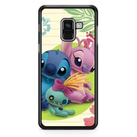 Stitch And Angel Wallpaper Y1725 Samsung A8 2018 Custom Case