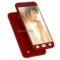 360 protection case Samsung galaxy Mega 6.3 - Red + Tempered Glass