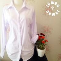 Jual Kemeja Putih Polos Wanita Kantor Strit Spandex Lembut Jumbo