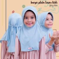 Kerudung Instan Anak MiuLan Bergo Plain Laura Kids
