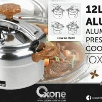 Sale! Panci Presto 12Ltr Ox-2012 / Oxone Aluminium Pressure Cooker Ox