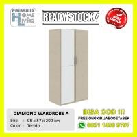 [READY STOCK] LEMARI PAKAIAN 2 PINTU DIAMOND WARDROBE A SERIES