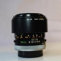 Lensa Manual Canon FD Macro 50mm F 3.5 SSC