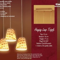 Lampu Hias kap Gantung minimalis design motif unik bhn berkwalitas