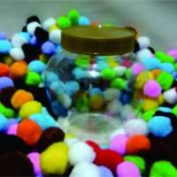 Wadah Toples jar botol plastik kue kering lebaran Apel bulat 450ml