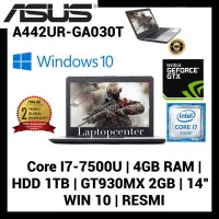 Laptop Asus A442UR-GA031T Core I7-7500 4GB RAM 1TB GT-930MX 2GB Win 10