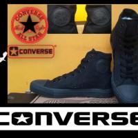 Paling Laris ! Sepatu Converse All Star High Full Black + Box Grade