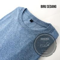 Kaos Polos Bahan PRC (Poly Rayon Cotton) Motif Slub Pria dan Wanita