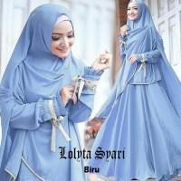 Baju Busana Muslim Gamis Lolita Syari Maroon Bergo No Ped Promo