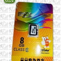 Memori memory card hp mikro micro SD WStor 8gb class 6 ori original