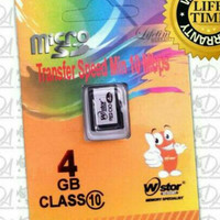 Memori memory card hp Micro Sd WStor 4gb class 10 original ori