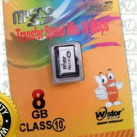 Memori memory card hp Micro Sd WStor 8gb class 10 ori original