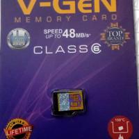 Memori memory card hp mmc Micro Sd V-GeN 4gb Class 6 ori vgen original