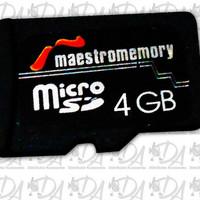 Memori hp memory card Micro sd Maestro 4gb class 6 ori original mmc