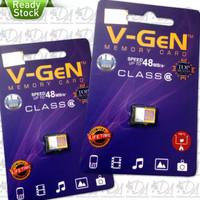 Memori memory card hp mmc Micro Sd V-GeN 8gb Class 6 ori original vgen