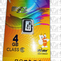 Memori memory card hp mikro micro SD WStor 4gb class 6 ori original
