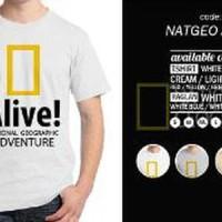 KAOS NATGEO ALIVE - NATIONAL GEOGRAPHIC ORDINAL APPAREL Murah