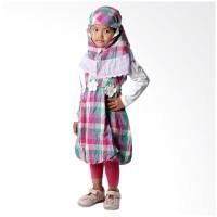 4 You Moslem Plaid Dress Ungu - Size L