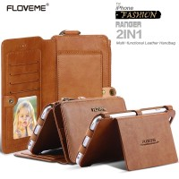 Best Item! FLOVEME Business Leather Wallet Phone Bag Cases For iPhone