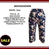 Big Size Jumbo XL - 4L Celana Panjang Kulot Wanita BSFS3253CKPK Kaos