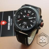 Jam Tangan Pria Original Swiss Army LIMITED Leather 1 Year Guaranted