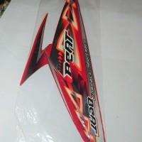 Stiker Bodi & Lis Body & Striping Beat 2012 Merah
