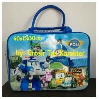 Tas Anak Karakter ROBOCAR POLI 40cm Tas Tenteng Les Renang Travel Bag