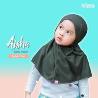 Syiria instan polos jilbab anak hijab anak hijau tua