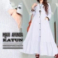 15318 maxi ayunda katun/cantik/murah/jumbo/bigsize/pesta/gaun/mewah