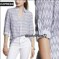 EIFFEL TOWER PRINT PORTOFINO SHIRT EXPRESS BRANDED