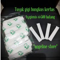 Tusuk gigi bungkus kertas steril hygienis @500 batang