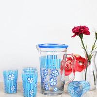 Maxim Drink Jar Set Teko Kaca + 6 Gelas Kaca Minum